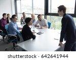 business team meeting in modern ... | Shutterstock . vector #642641944