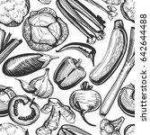 vector seamless pattern of hand ... | Shutterstock .eps vector #642644488