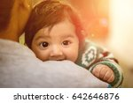 mother and daughter hugging | Shutterstock . vector #642646876