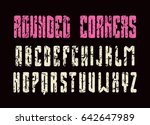 narrow sanserif font with... | Shutterstock .eps vector #642647989