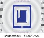 e book  vector illustration of...