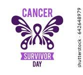 cancer survivor day vector... | Shutterstock .eps vector #642648979
