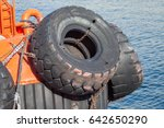 Big Tires Of The Deck Of A Tug...