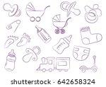 toys for children background... | Shutterstock .eps vector #642658324