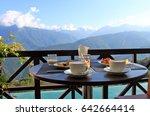breakfast  coffee and... | Shutterstock . vector #642664414