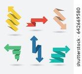 vector set of origami paper...   Shutterstock .eps vector #642669580