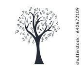 music notes tree | Shutterstock .eps vector #642672109