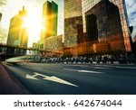 modern buildings in paris... | Shutterstock . vector #642674044