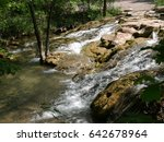 cascades of water chickasaw... | Shutterstock . vector #642678964