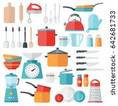 collection of vector icons... | Shutterstock .eps vector #642681733
