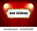 theater sign on curtain with... | Shutterstock .eps vector #642692689
