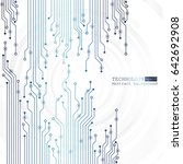 vector circuit board...   Shutterstock .eps vector #642692908