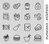 lunch icons set. set of 16... | Shutterstock .eps vector #642693463