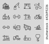 lift icons set. set of 16 lift...   Shutterstock .eps vector #642695236