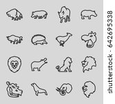 zoo icons set. set of 16 zoo... | Shutterstock .eps vector #642695338