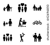 father icons set. set of 9... | Shutterstock .eps vector #642696850