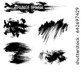vector set of grunge brush... | Shutterstock .eps vector #642697429