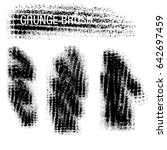 vector set of grunge brush... | Shutterstock .eps vector #642697459