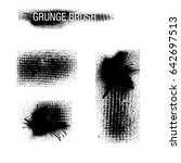 vector set of grunge brush... | Shutterstock .eps vector #642697513