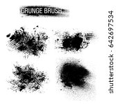 vector set of grunge brush... | Shutterstock .eps vector #642697534