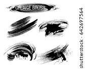 vector set of grunge brush... | Shutterstock .eps vector #642697564
