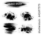 vector set of grunge brush... | Shutterstock .eps vector #642697573