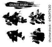vector set of grunge brush... | Shutterstock .eps vector #642697630