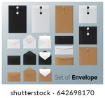 set of realistic envelope  ... | Shutterstock .eps vector #642698170