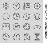 second icons set. set of 16... | Shutterstock .eps vector #642698680