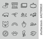 Nature Icons Set. Set Of 16...