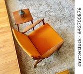 1950's orange chair | Shutterstock . vector #642700876