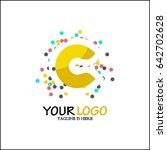 c letter logo.sparkle logo... | Shutterstock .eps vector #642702628
