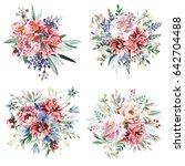 flower bouquets | Shutterstock . vector #642704488