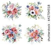 flower bouquets | Shutterstock . vector #642704518