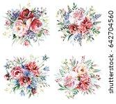 flower bouquets | Shutterstock . vector #642704560