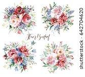 flower bouquets | Shutterstock . vector #642704620