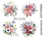 flower bouquets | Shutterstock . vector #642704860
