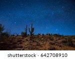 cactus desert night | Shutterstock . vector #642708910