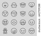 funny icons set. set of 16... | Shutterstock .eps vector #642709288