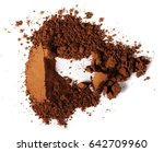 pile cocoa powder isolated on...   Shutterstock . vector #642709960
