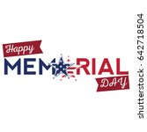 isolated memorial day label on... | Shutterstock .eps vector #642718504