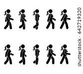 woman people various walking... | Shutterstock .eps vector #642719320
