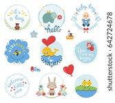 kids elements  labels  frames ...   Shutterstock .eps vector #642724678