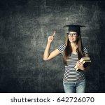 student in graduation hat ... | Shutterstock . vector #642726070