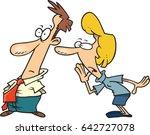 cartoon woman telling a man a... | Shutterstock .eps vector #642727078