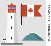 travel canada traditional... | Shutterstock .eps vector #642729388