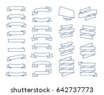 Set Of Vector Line Ribbons And...