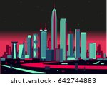 shenzhen skyline | Shutterstock .eps vector #642744883
