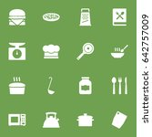 set of 16 cooking icons set... | Shutterstock .eps vector #642757009