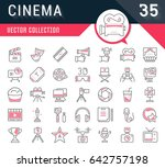 set vector line icons  sign and ... | Shutterstock .eps vector #642757198